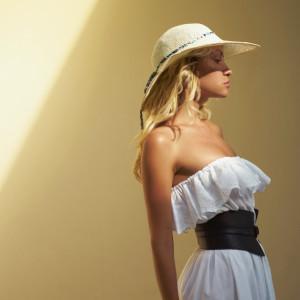 Pretty woman in straw hat