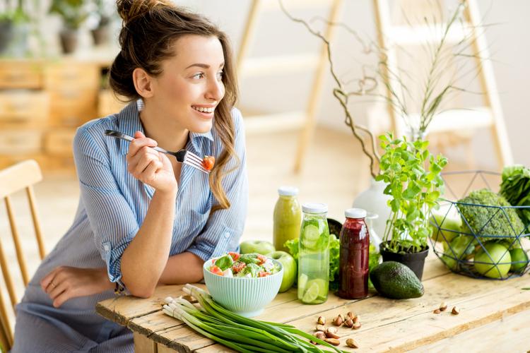 善玉菌を含む、働きを助ける食事