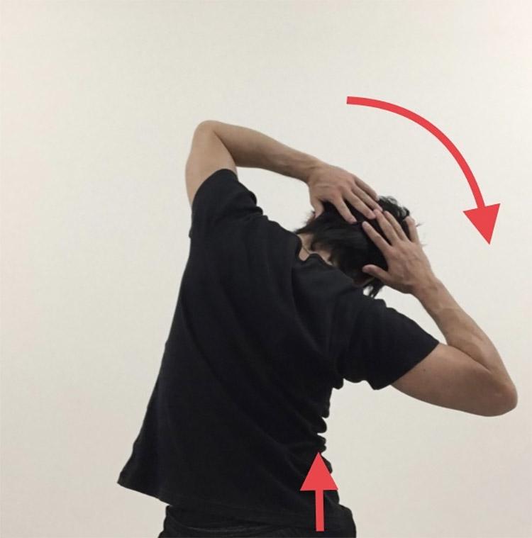 体幹側屈及び骨盤挙上動作を高める動的ストレッチ2