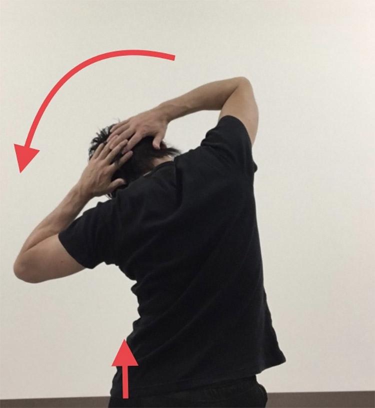 体幹側屈及び骨盤挙上動作を高める動的ストレッチ