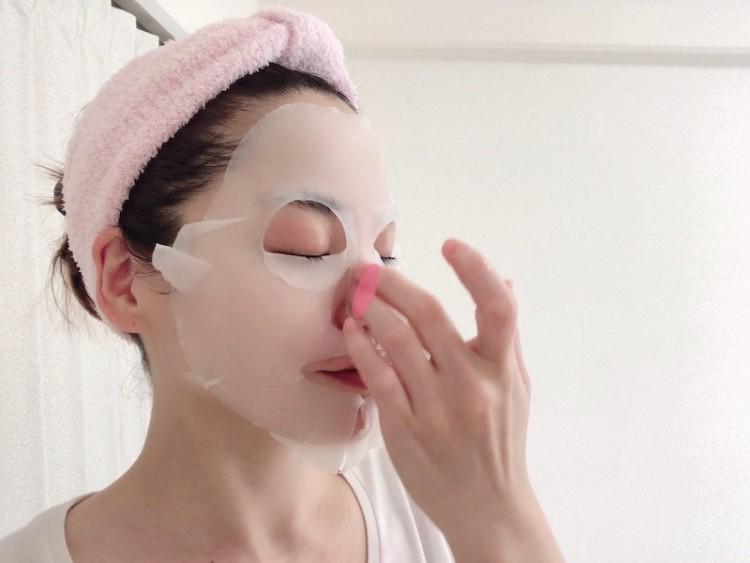 シートマスクの付け方(6)