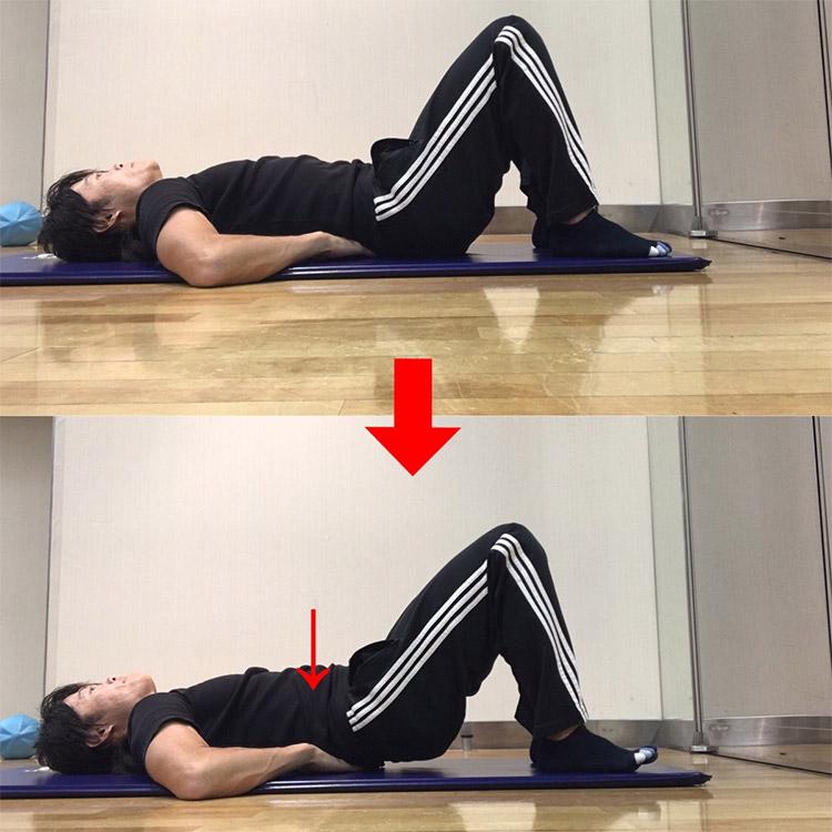 上体を起こさない腹筋エクササイズ