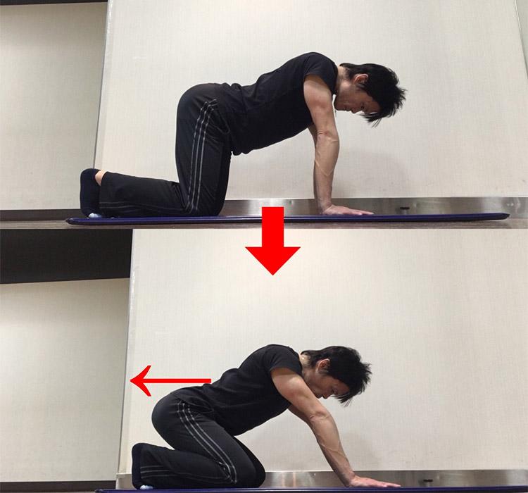 股関節を曲げる動作を高める動的ストレッチ