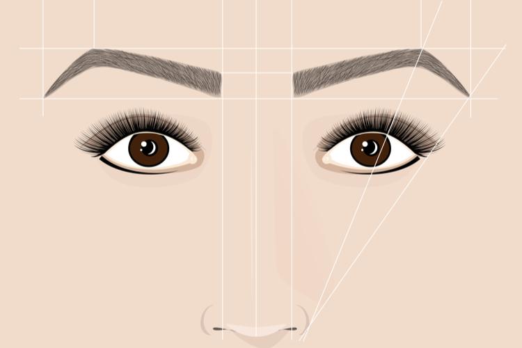まず初めに理想の眉の形を知る