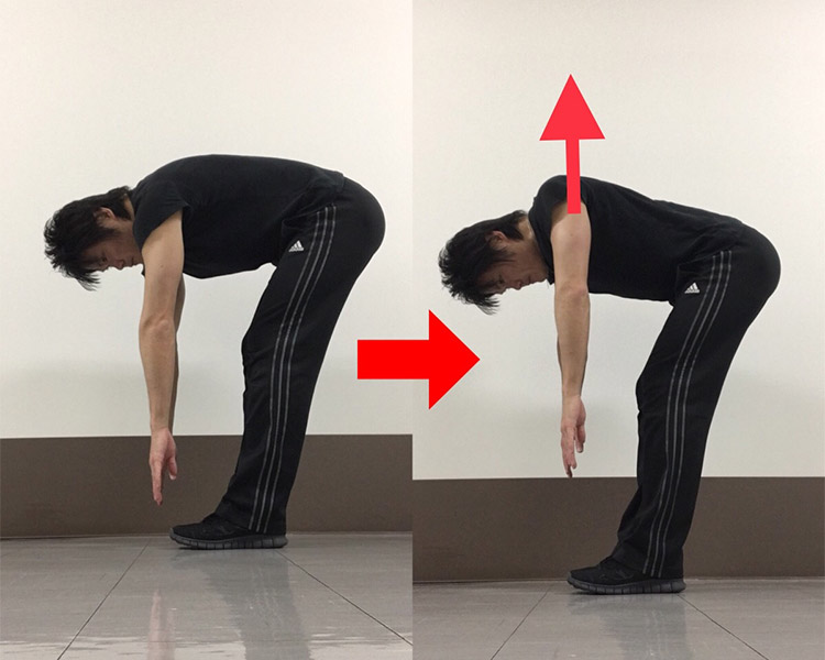 肩甲骨内転動作を高める動的ストレッチ