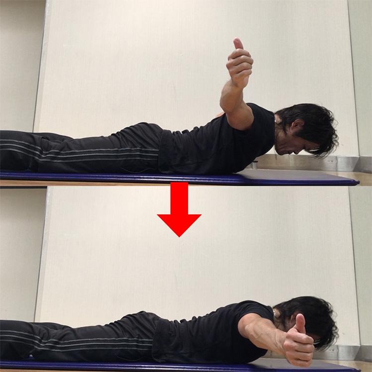 肩甲骨内転筋群へのエクササイズ