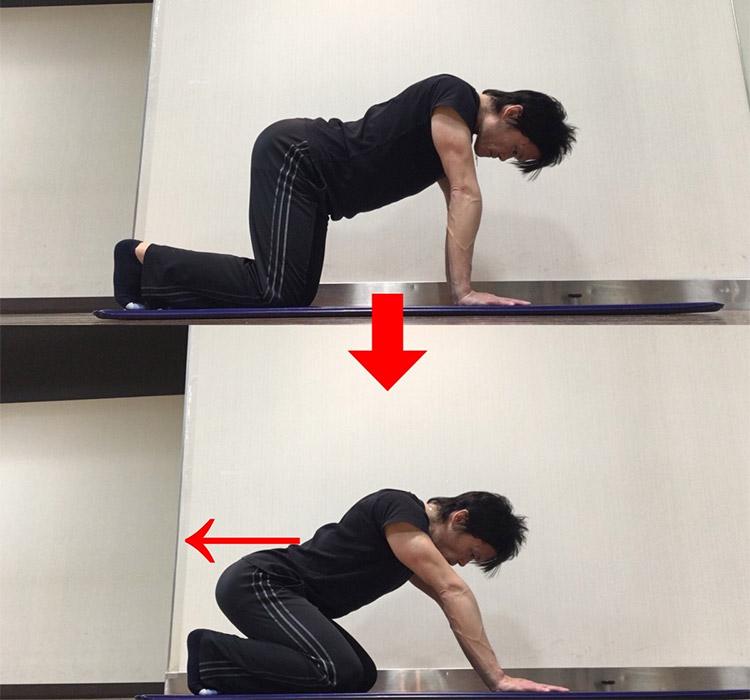 股関節屈曲動作を高める動的ストレッチ